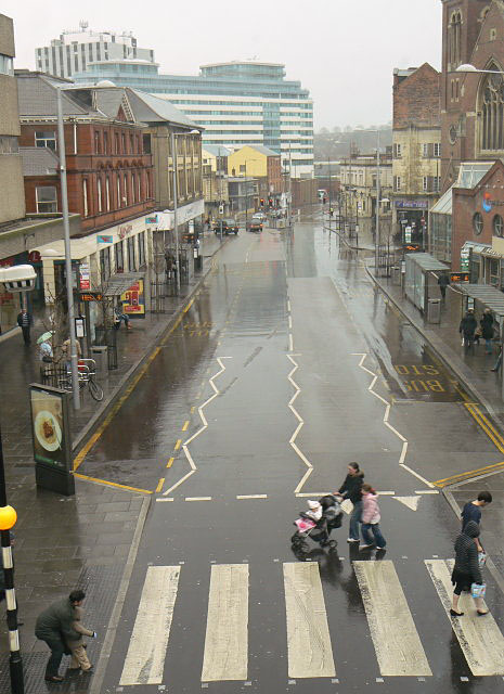 Nottingham in the rain