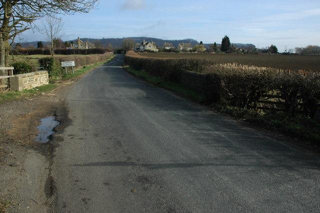 Road approaching Alderton