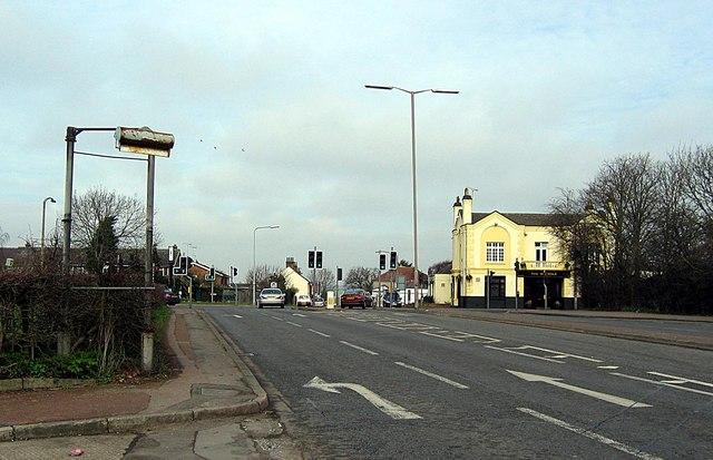 Traffic Lights at Maypole crossroads