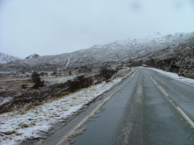 The A87 by Loch Cluanie