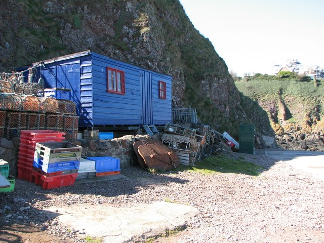 Fishermans shed at St Abbs Harbour