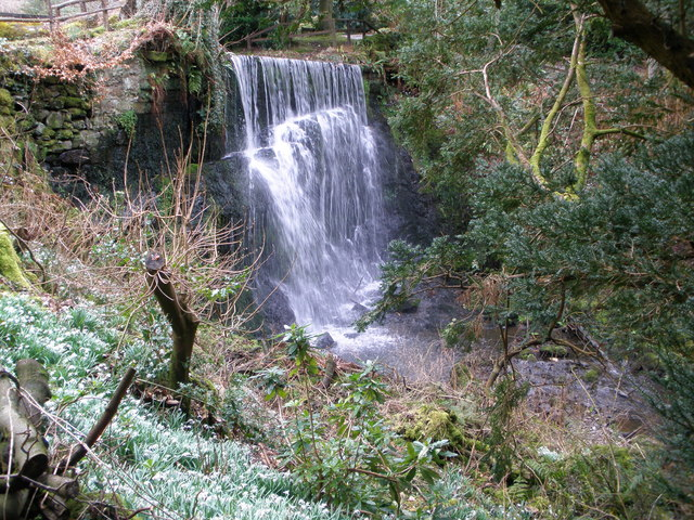 Waterfall in Finlaystone country Estate
