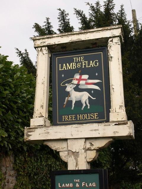 Pub sign, Blagdon Hill