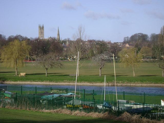 St Nicholas Park from Myton Fields