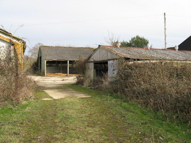 Derelict barns at Westlands Farm