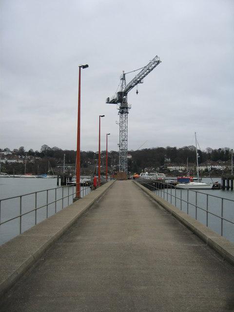 Concrete jetty & crane