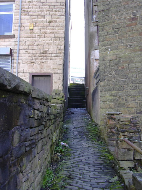 Alley from Charles Lane