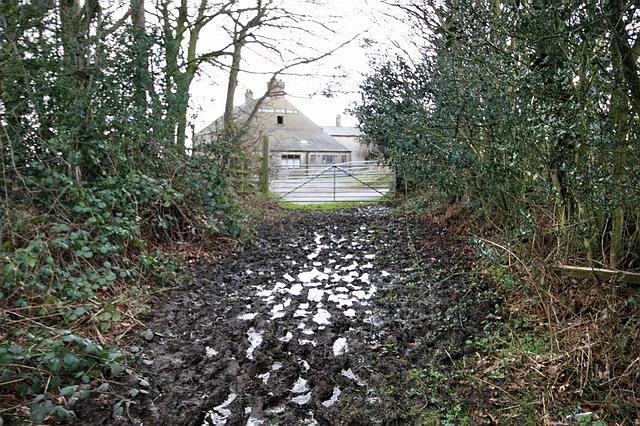 Muddy Footpath to Derelict Pub