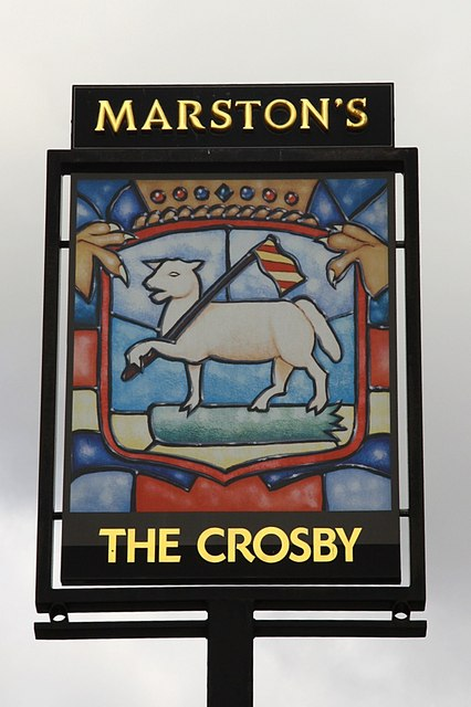 The sign of the Crosby