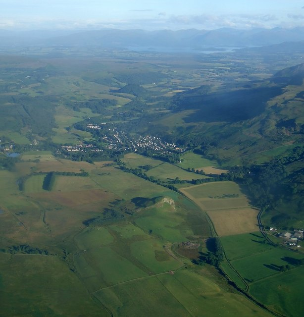 Strathblane and Loch Lomond from the air