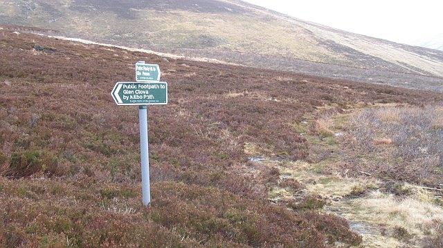 Signpost on the Kilbo path