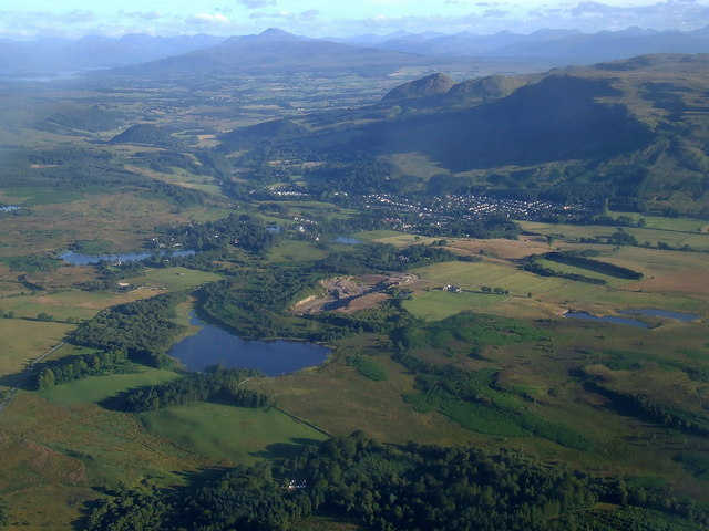 Strathblane and Ben Lomond from the air