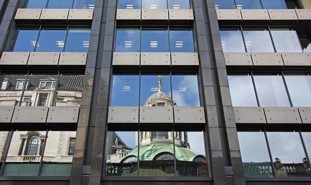 Reflection in Princes Street, London EC2