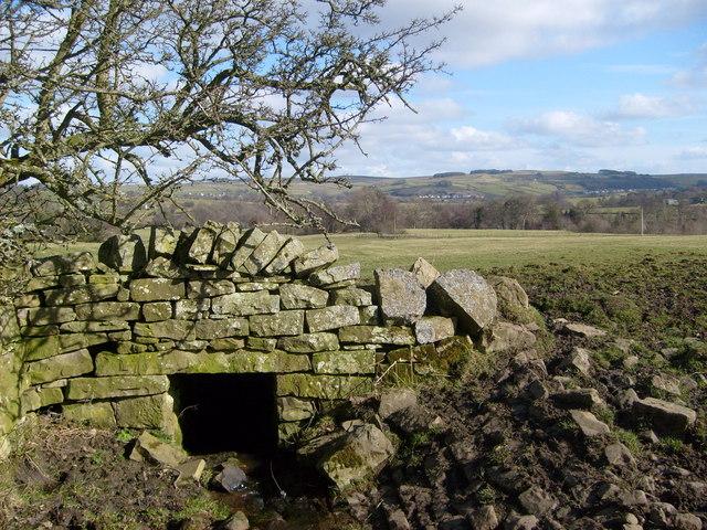 Stone built meadow drain
