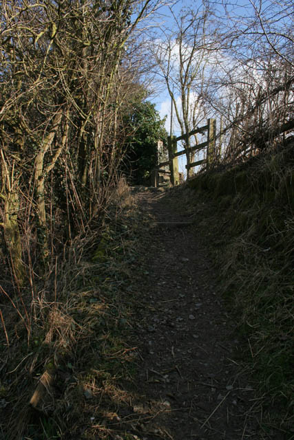 Steep footpath