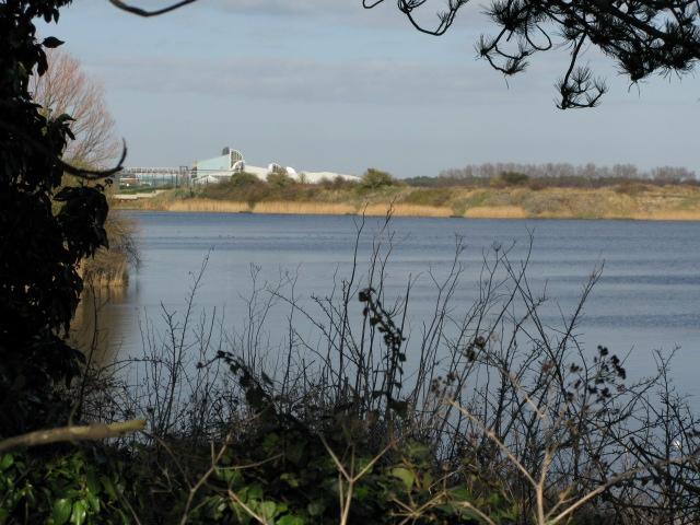 Looking NE across Stonar Lake towards Pfizer