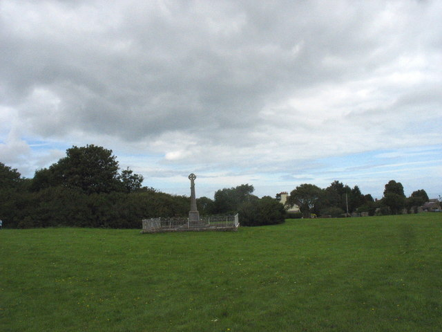 The Green at Marian Glas  and the village's War Memorial