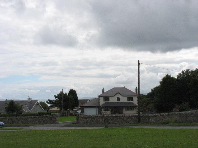 Modern housing overlooking the Green