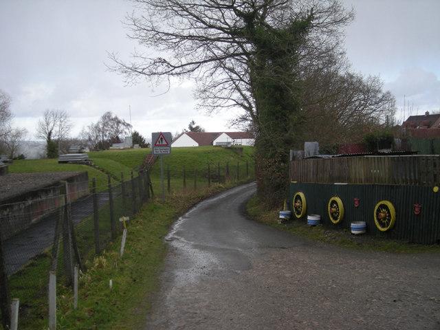 Track beside Pontesbury Hills reservoir