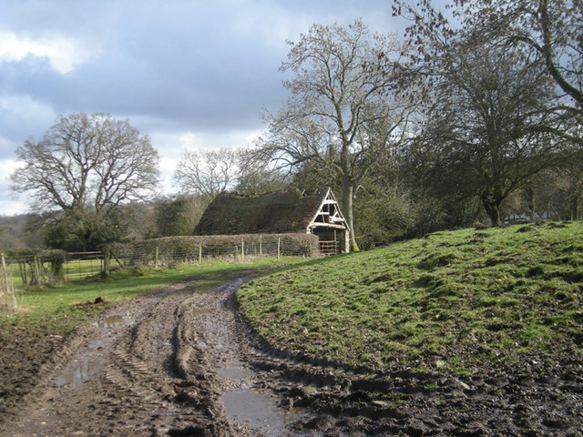 Muddy track near Upper House Farm