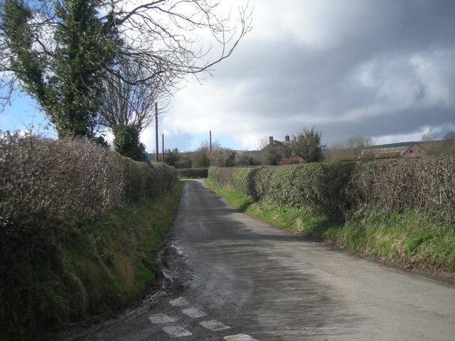 Lane near Burwarton
