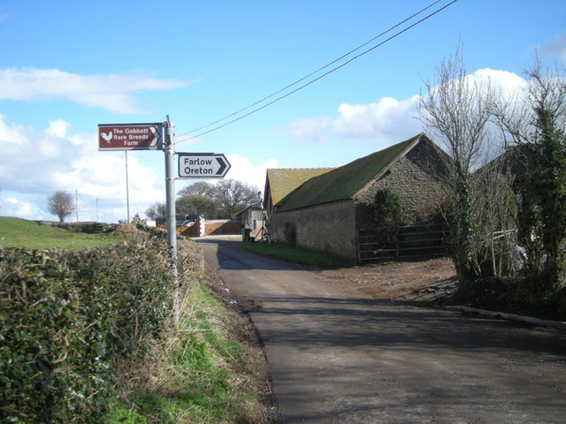 Lane junction at Norton