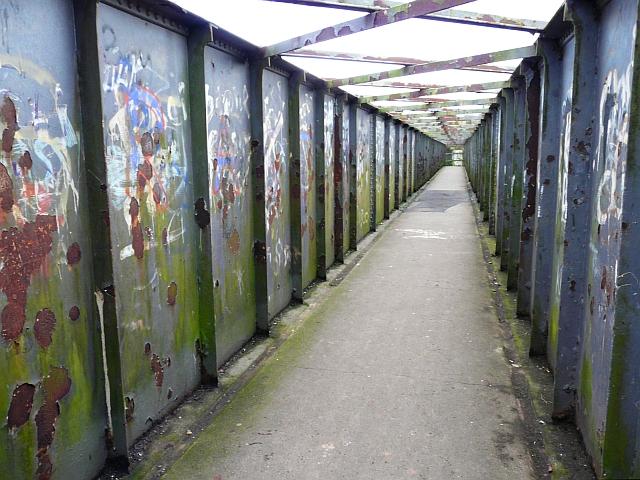 Currock railway footbridge (1) - the inside