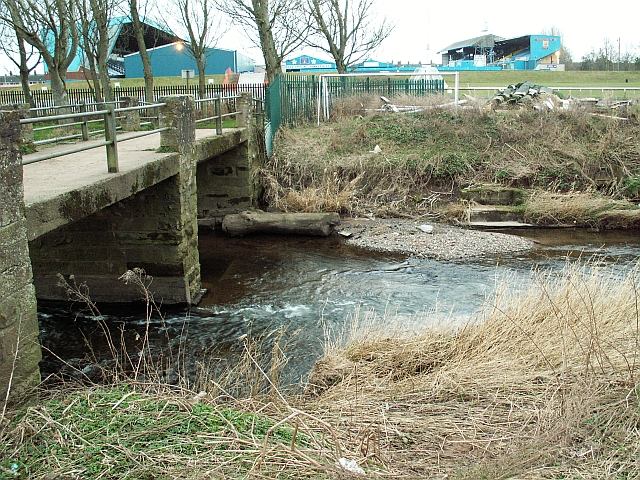 Footbridge behind Brunton Park