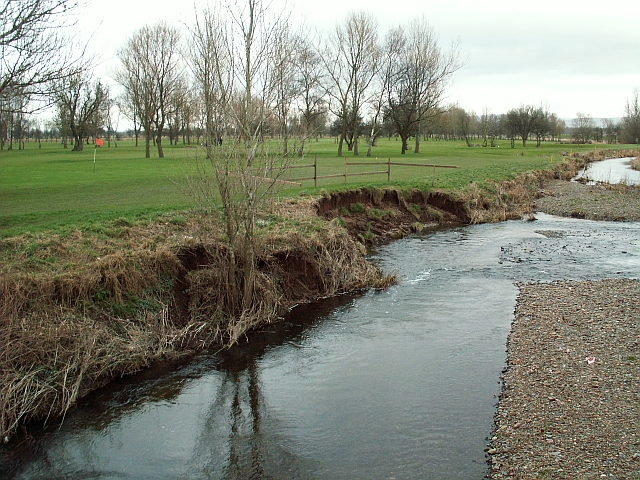 Stony Holme Golf Course beside the River Petteril