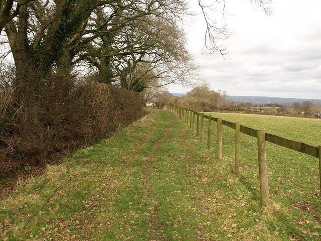 Footpath near Blagdon Hill