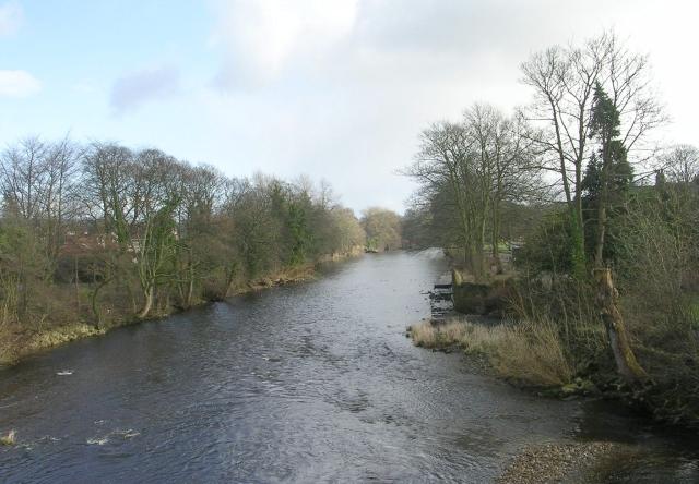 River Wharfe - from Ilkley Old Bridge