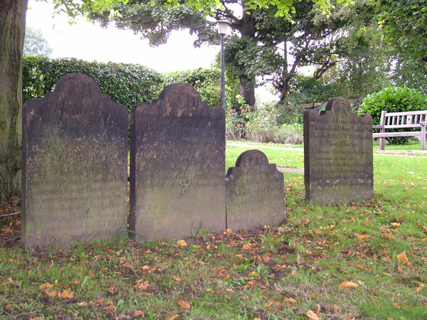 Gravestones at St. Mary's, Woodkirk