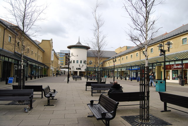 Courtyard outside Priory Meadow Shopping Centre, Hastings