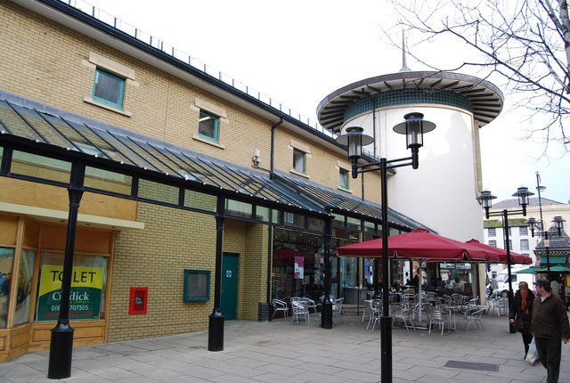Pedestrianised area, Priory Meadow Shopping Centre.