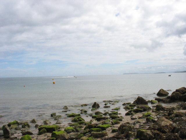 High water at Traeth Bychan beach
