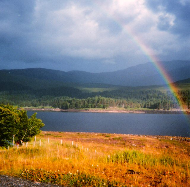 Rainbow over Loch Laggan
