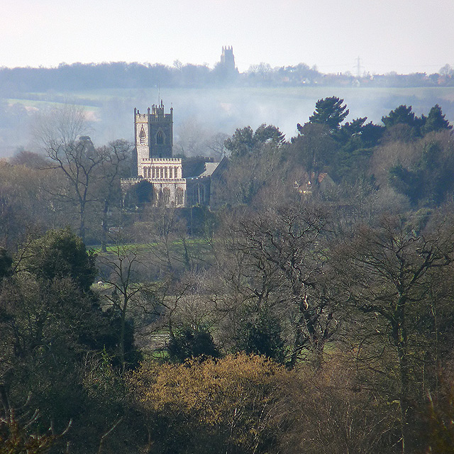 Stratford St Mary church, seen from East Bergholt