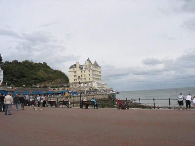 Llandudno's Grand Hotel from the promenade