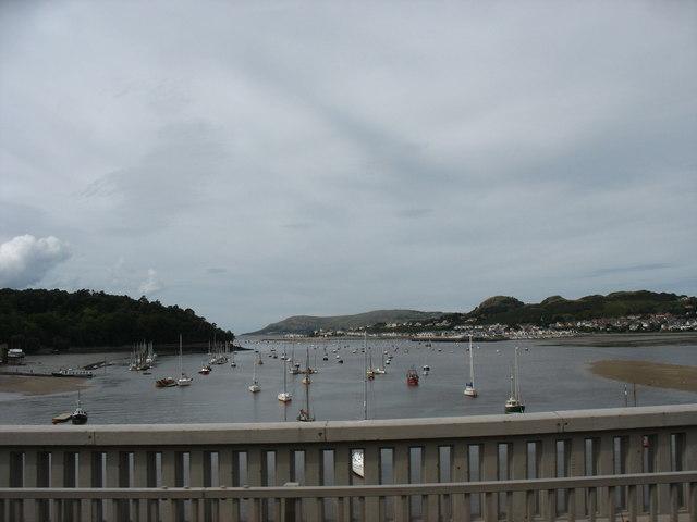 The estuary of Afon Conwy