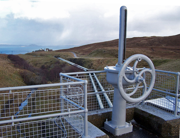 Loch Leathann dam
