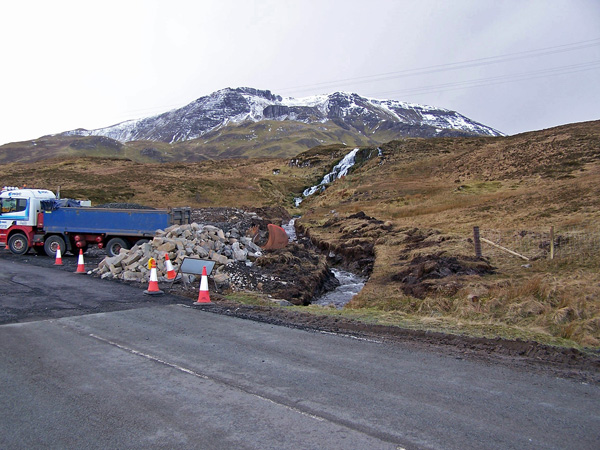 Bridge replacement works on the A855