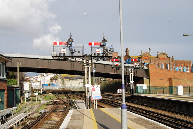 Signals at the end of the platform, Hastings Station