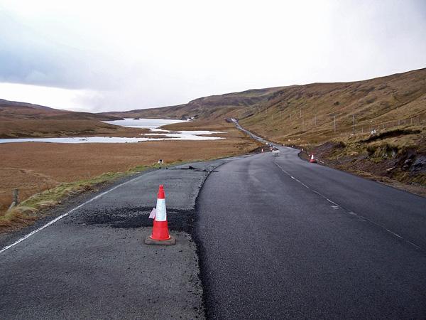 A855 towards Portree