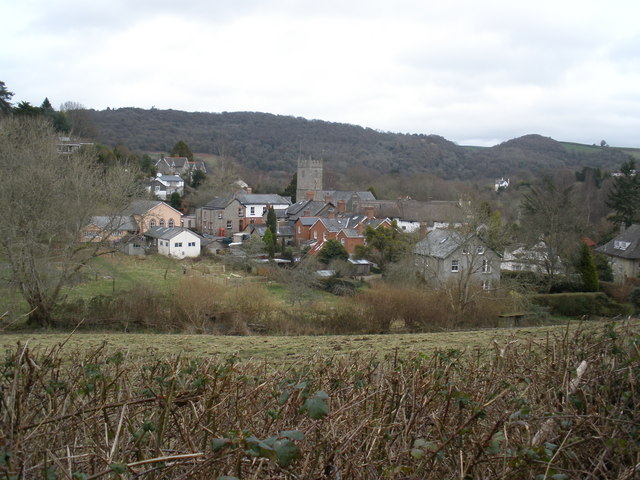 Lustleigh, viewed from the lane to Ellimore