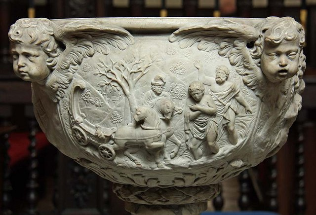 St Margaret, Lothbury, London EC2 - Font detail