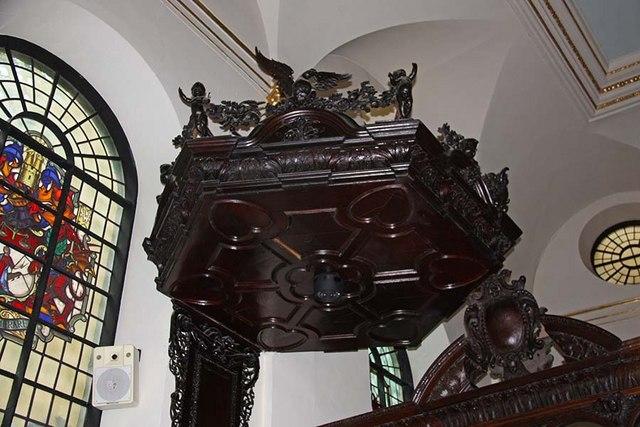 St Margaret, Lothbury, London EC2 - Tester above pulpit