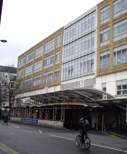 Scaffolding Outside Chelsea and Westminster Hospital
