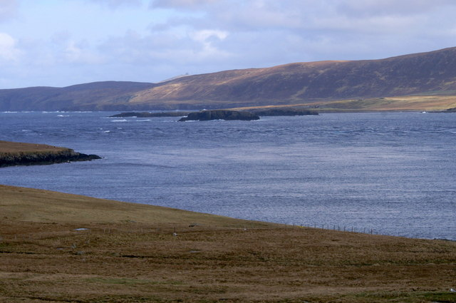 View towards Westing, Unst, from Cullivoe