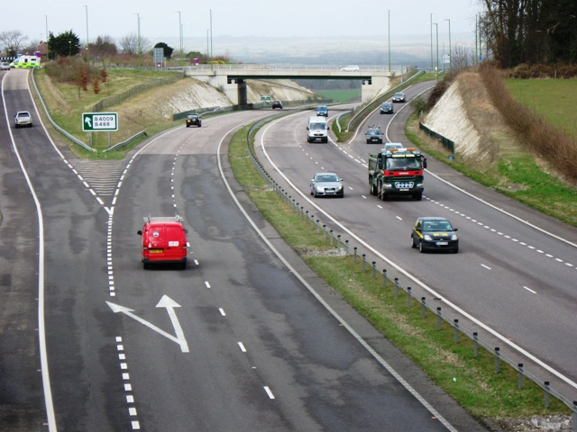 A41 Junction at the west end of the Tring Bypass