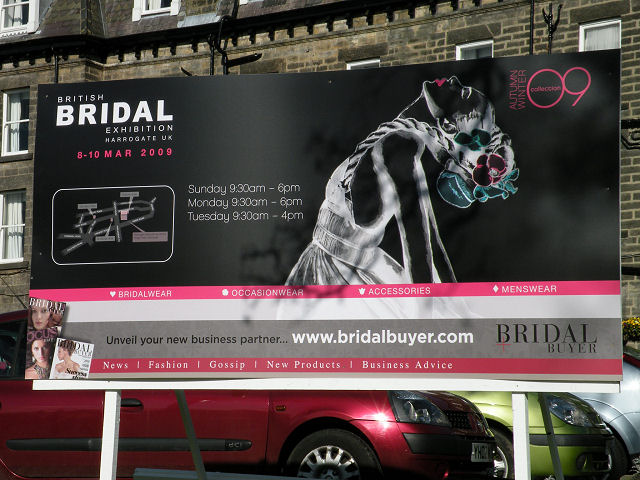 Bridal Exhibition sign at the Old Swan